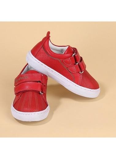Kiko Kids Kiko Pnd 401DS101 Hakiki Deri Kız/Erkek Çocuk Spor Ayakkabı Kırmızı